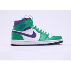Air Jordan 1 White/Violet/Green