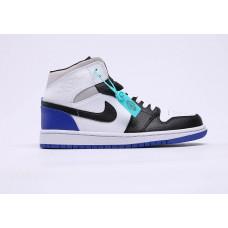 Air Jordan 1 White/black/blu