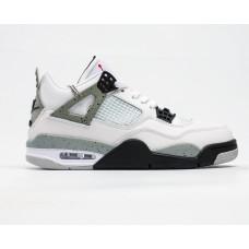 Кроссовки Air Jordan 4 Retro белые с черным