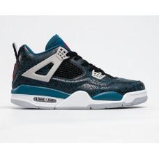 Кроссовки Air Jordan 4 Retro black/blu
