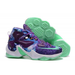 NIKE LEBRON JAMES XIII purple and blue
