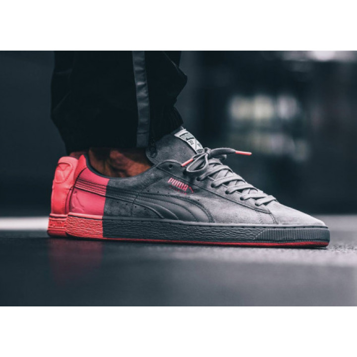 Puma Suede Classic Staple grey/red