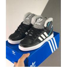 Зимние Adidas Extaball W черные с серым