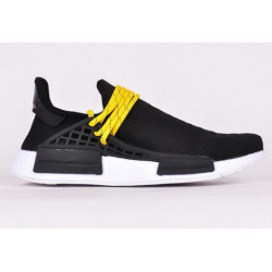 Adidas NMD Hu Trail Black Pharrell Williams черный с желтым