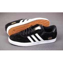 Adidas Gonzales черные с белыми полосами