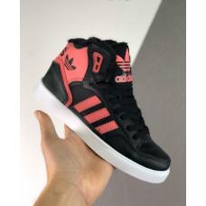 Зимние Adidas Extaball W черные с розовым