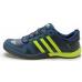 Кроссовки Adidas Daroga синие с салатовым