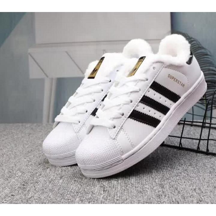 Кроссовки Adidas Superstar, утепленные