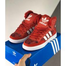 Зимние Adidas Extaball красные