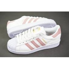 Adidas Superstar 80s белый с розовым