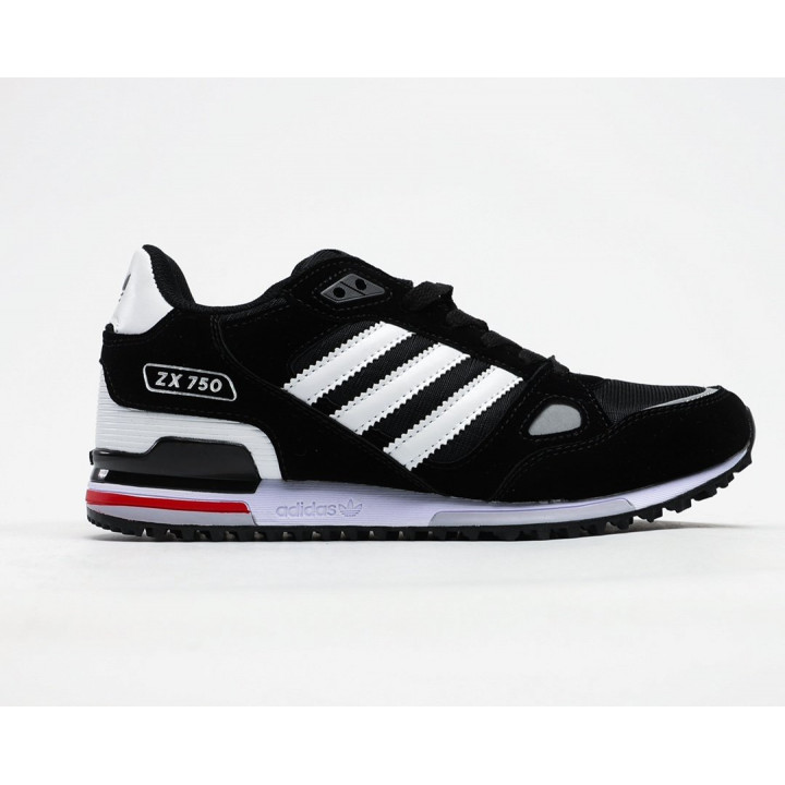 Кроссовки Adidas ZX 750 черный с белым