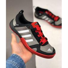 Кроссовки Adidas Daroga черные с красным летние