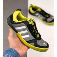 Кроссовки Adidas Daroga серые с лимоном летние