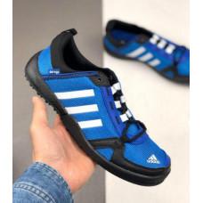 Кроссовки Adidas Daroga черные с синим летние