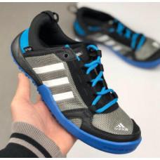 Кроссовки Adidas Daroga серые с синим летние