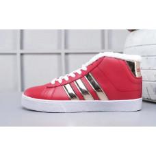 Кроссовки Adidas Neo Bbneo утепленные красные