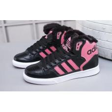 Зимние Adidas Extaball с розовым