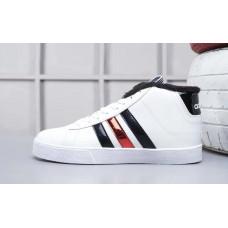 Кроссовки Adidas Neo Bbneo утепленные белые с черным