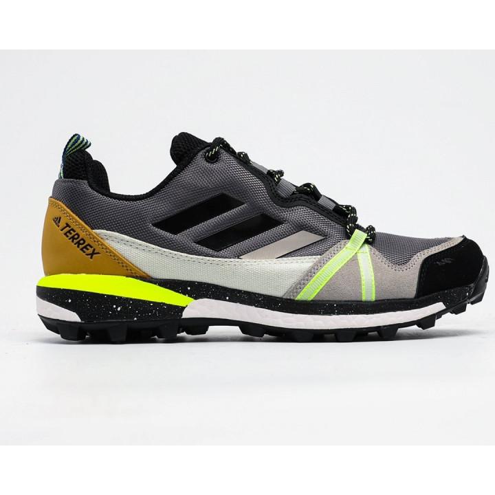 Кроссовки Adidas Terrex, Agravic GTX черные с салатовой пяткой