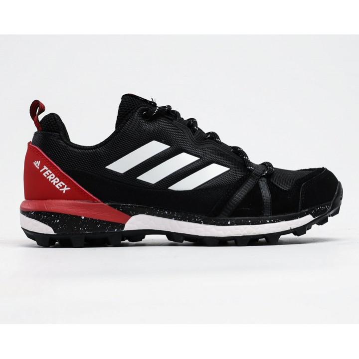 Кроссовки Adidas Terrex, Agravic GTX черные с красной пяткой