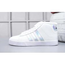 Кроссовки Adidas Neo Bbneo утепленные белые