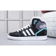 Зимние Adidas Extaball черные с бирюзой