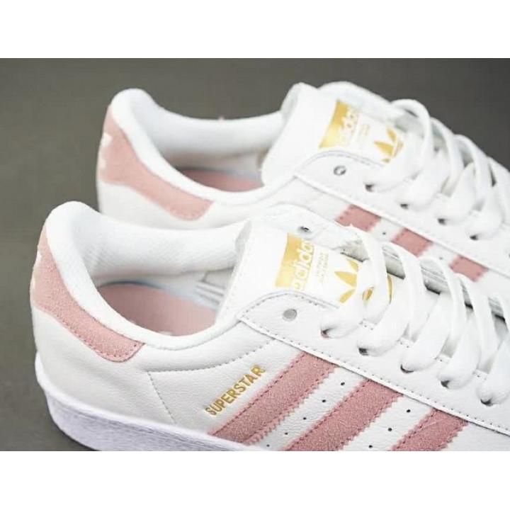 Кроссовки Adidas Superstar, розовые с белым 2018