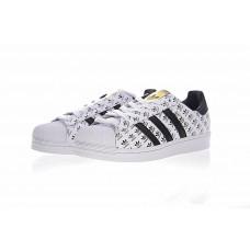 Adidas Superstar белые лого