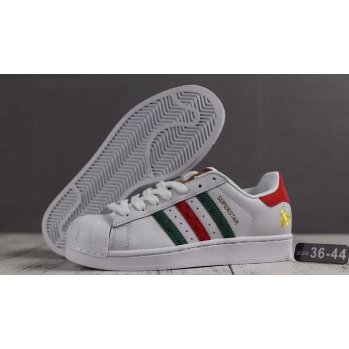 Кроссовки Adidas Superstar 80s x Gucci черные с белым