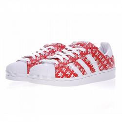 Adidas Superstar красные лого