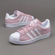 Adidas Superstar розовые замша