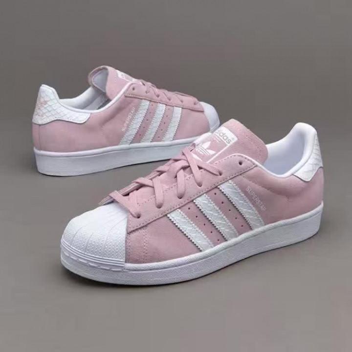 Кроссовки Adidas Superstar, розовые с белым