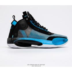 """Air Jordan XXXIV""""Eclipse""""AJ34 черные с голубым"""