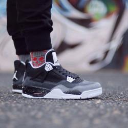Кроссовки Air Jordan 4 черный с серым