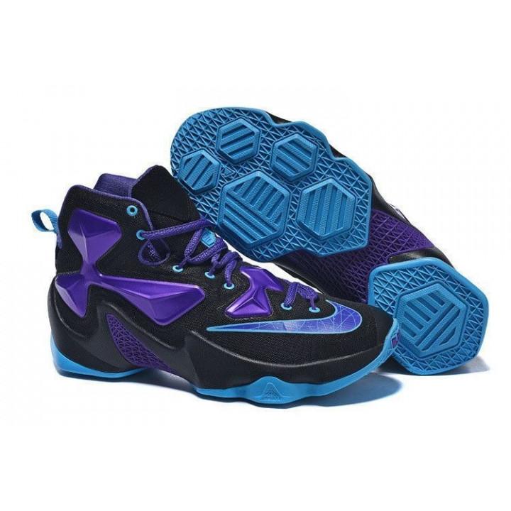 Баскетбольные кроссовки, Nike LEBRON 13 черный фиолет синий