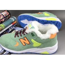 Кроссовки New Balance 580 Утепленные зеленые