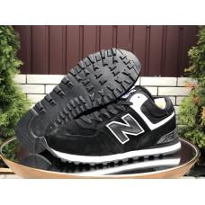 Кроссовки New Balance 574 утепленные черные с белым мужские