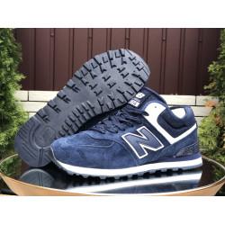 Кроссовки New Balance 574 утепленные синие мужские