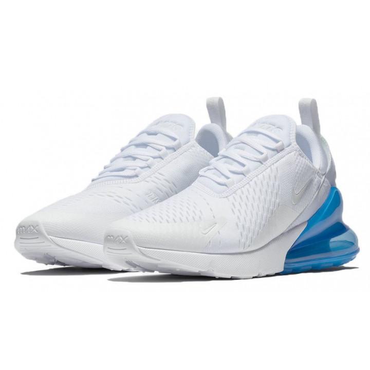 Кроссовки Nike Air Max, 270 белые с голубым