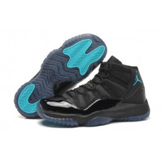 Кроссовки Air Jordan AJ11 черные с синим в наличии