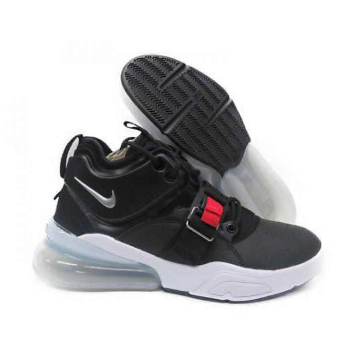 Nike Air Force 270 Высокие черные с белым