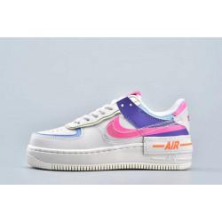 Nike Air Force 1 Shadow Double Swoosh Sail Pink Purple