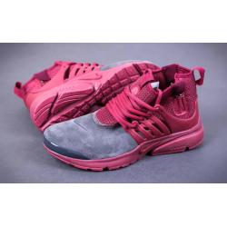 Nike Presto Mid Suede grey/red весна/осень