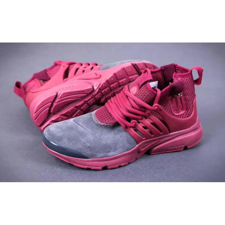 Кроссовки Nike Presto Mid Suede с красным