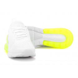 Nike Air Max 270 белые с лимоном