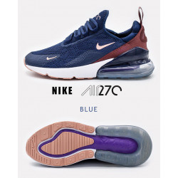 Nike Air Max 270 Navy Blue Wine Red Clearance