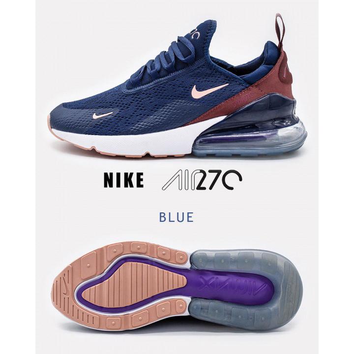 Nike Air Max 270 сині з коричневим