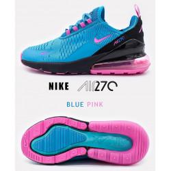 Nike Air Max 270 голубі з рожевим