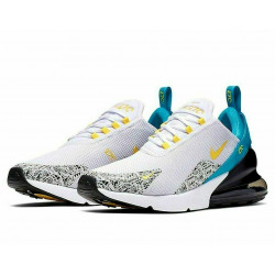 Nike Air Max 270 N7 Running Shoes White/Black/Blue/Yellow