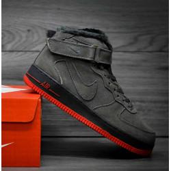 Nike Air Force 1 утепленные серые